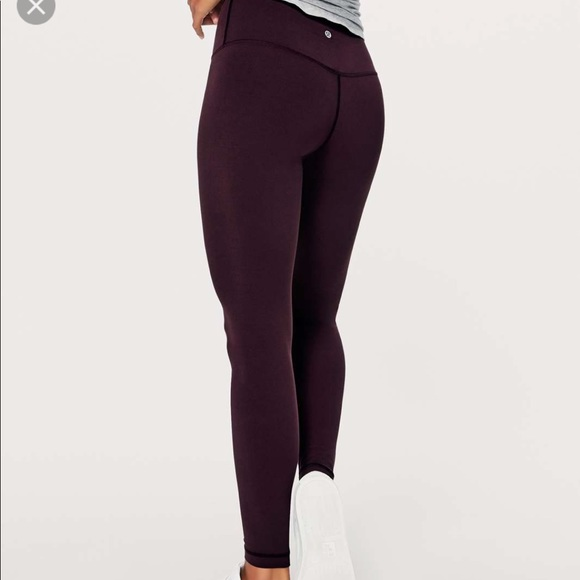 4182836671 lululemon athletica Pants | Lululemon Align In Black Cherry Size 6 ...
